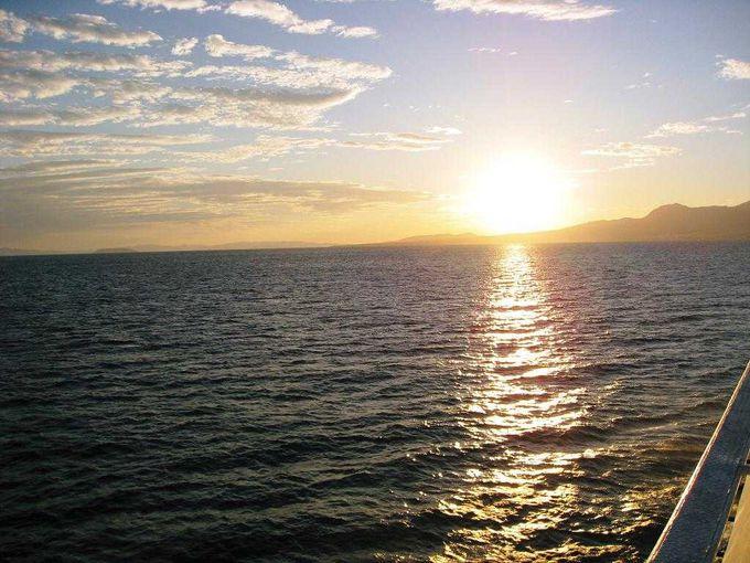 島原半島に沈む夕日