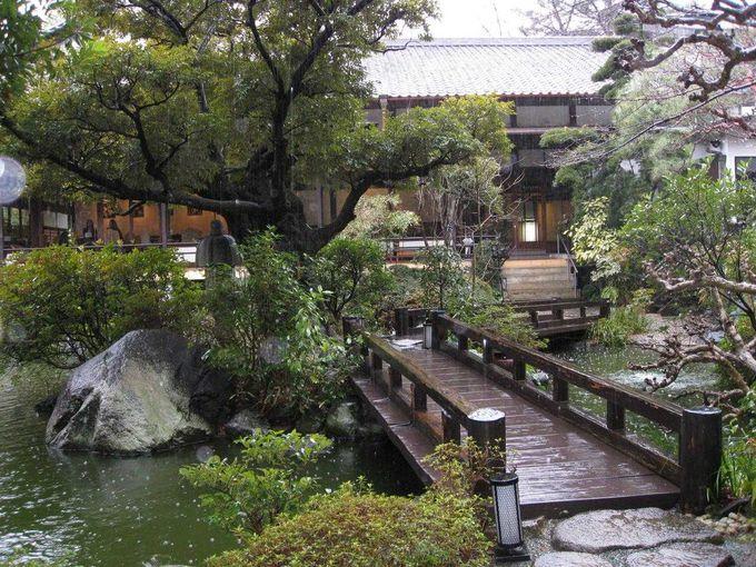 四季折々の景色が広がる一万坪の庭園
