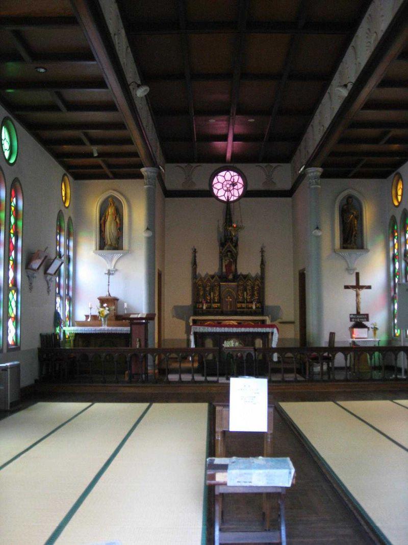 珍しい畳敷きの礼拝堂
