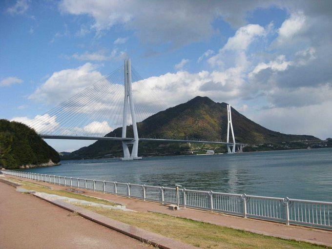 世界有数の斜張橋の多々羅大橋