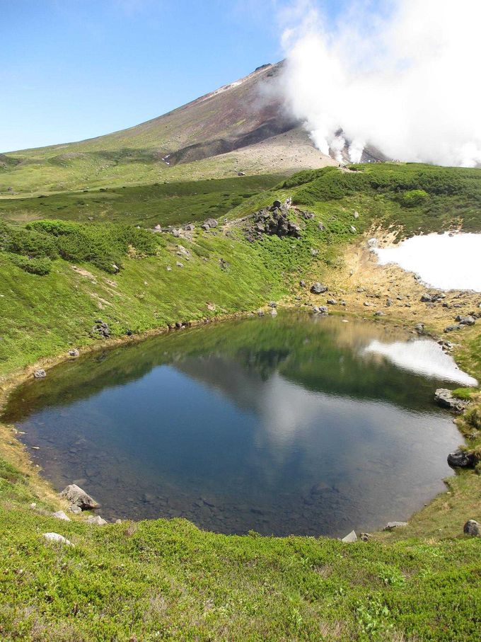 感動の旭岳と姿見の池