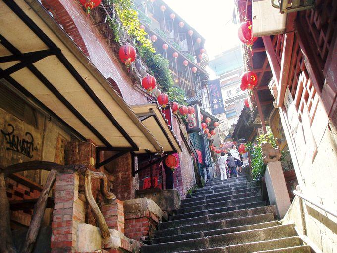 この階段が人気スポット!