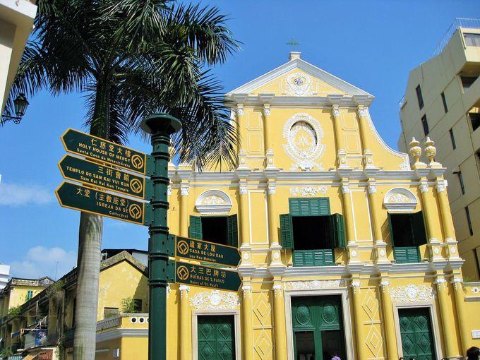 クリームイエローが可愛い「聖ドミニコ教会」