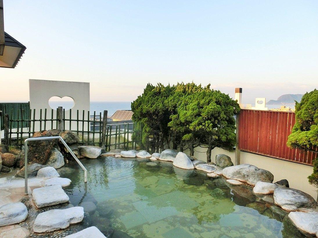 眺望の素晴らしい空中露天風呂