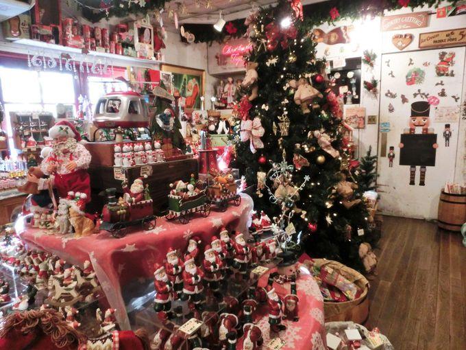 365日クリスマスグッズが並ぶ「クリスマスTOYS」