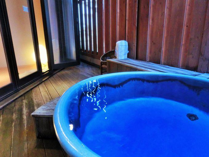 リニューアルされた露天風呂付の客室