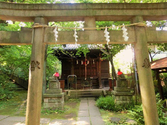 勝海舟の名付けた、しあわせ稲荷もある氷川神社