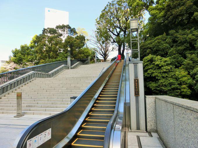 エスカレーターでお参りできる日枝神社