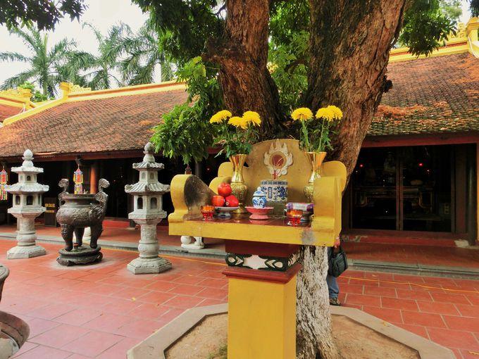 タイ湖の畔にはベトナム最古の鎮国寺