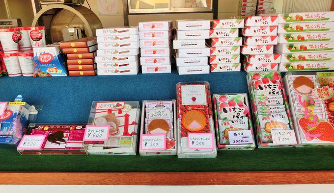 いちごのお菓子を「伊豆長岡いちご狩りセンター」のお土産に