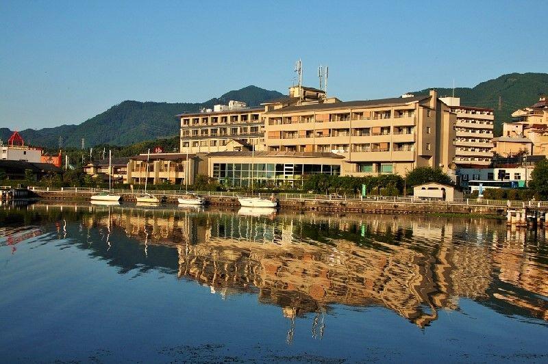 琵琶湖の絶景が楽しめる