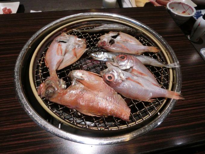 のどぐろや金目鯛も食べられる朝食