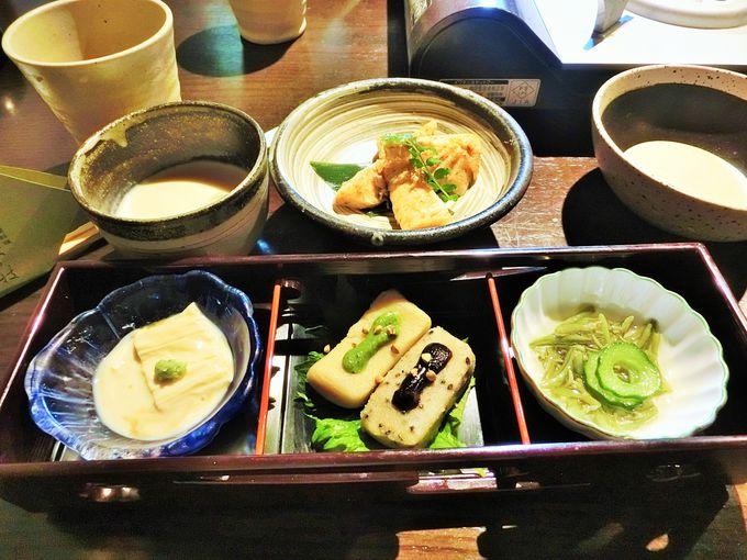 豆腐料理なら「松ヶ枝」で!市松模様の湯豆腐も