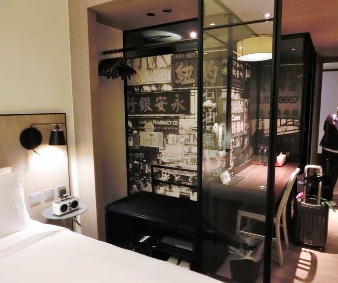 客室の中でも香港を感じることができる