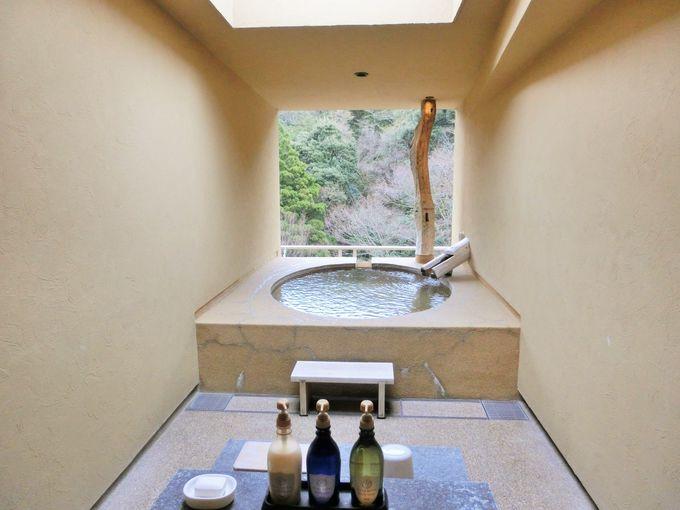 スタイリッシュで清潔な温泉