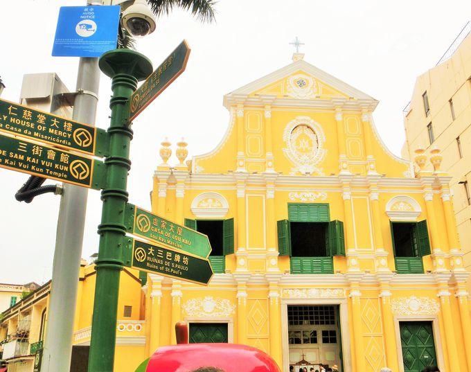美しいファサードを持つ教会
