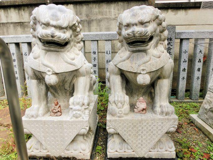 癒しの猫の石像
