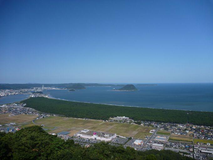 万葉の時代から見つめる鏡山からの絶景「虹の松原」