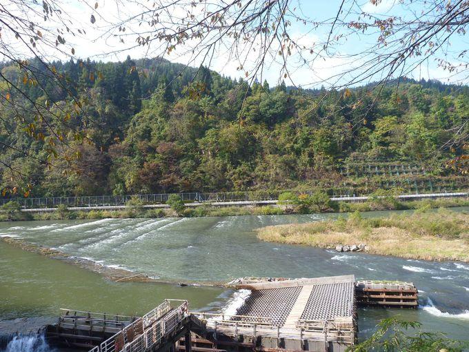 日本一のヤナ場と舟道跡
