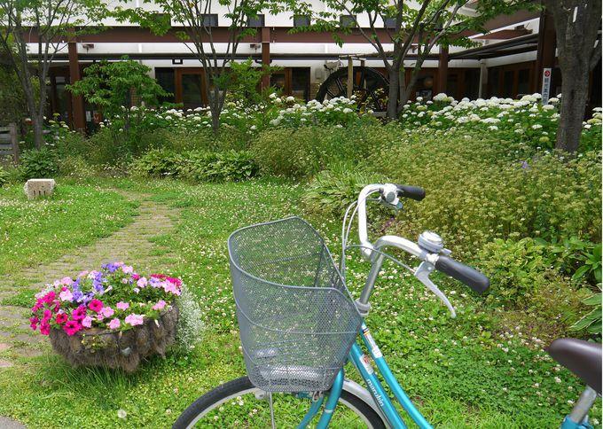 チリンチリンと温泉街までサイクリングしてみっぺ〜
