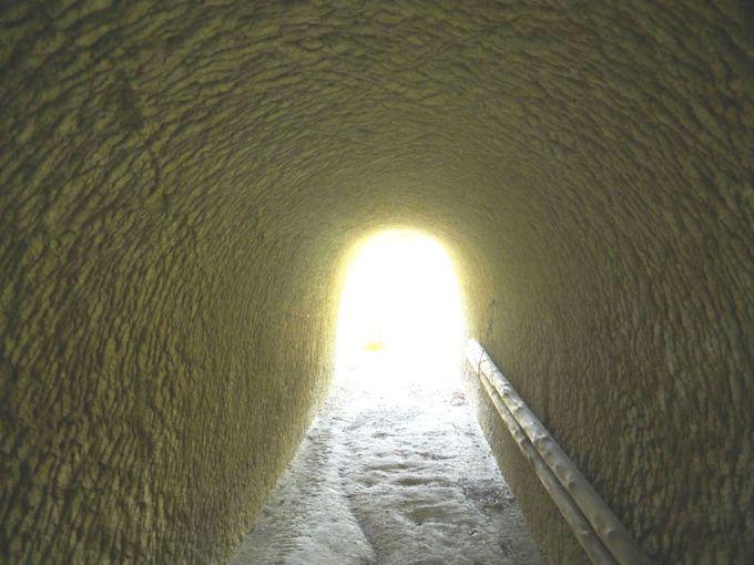 過去から未来へと導かれるトンネル?!