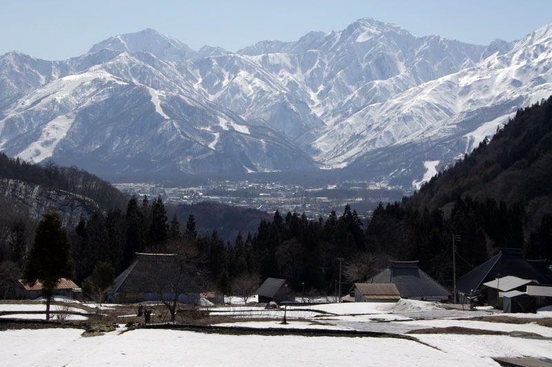 「日本の棚田百選」にも選ばれた、北アルプスを望む青鬼の棚田