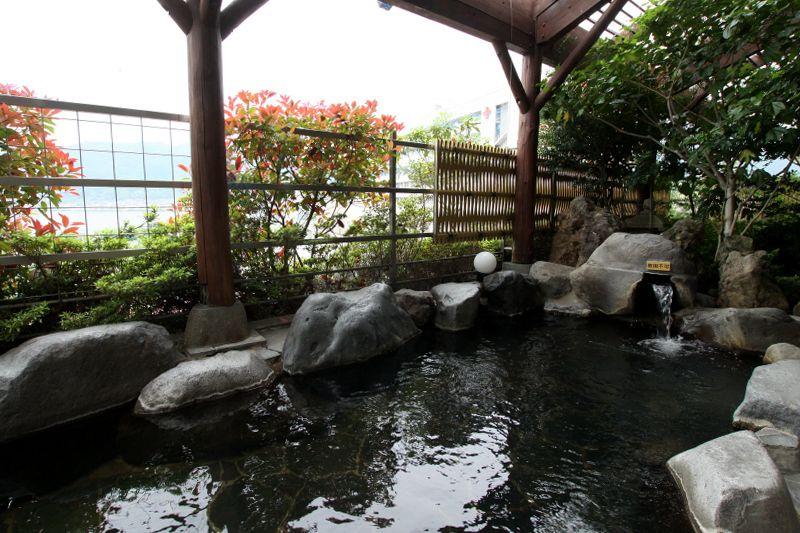 宿泊は上諏訪温泉で温泉三昧