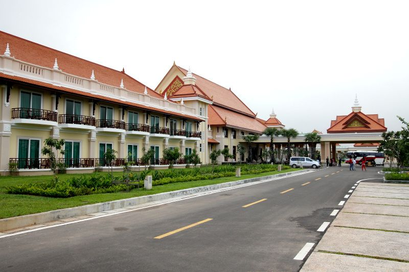シェムリアップの郊外に広がる新しいリゾートホテル