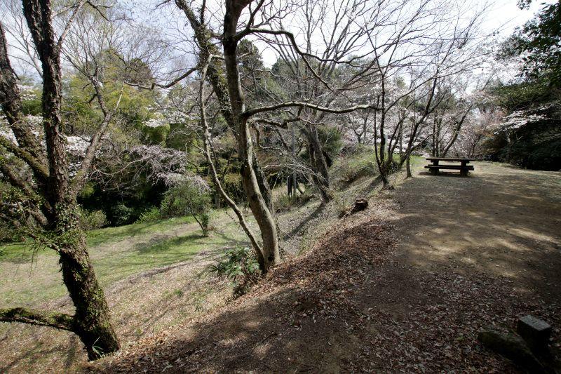 笠間城の正門である大手門から本丸へ