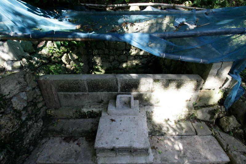 お水取りの儀式で使っていた由緒ある井戸「弁嶽の川」