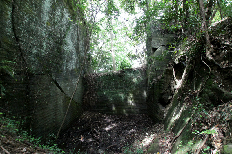 剥き出しの岩盤に刻まれた石切り場の歴史