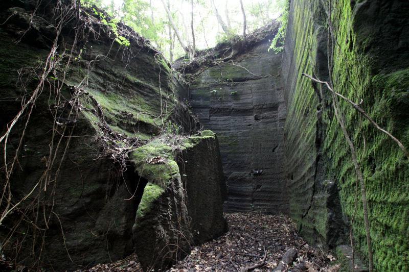 自然に還りつつある石切り場跡の美しさを堪能しよう