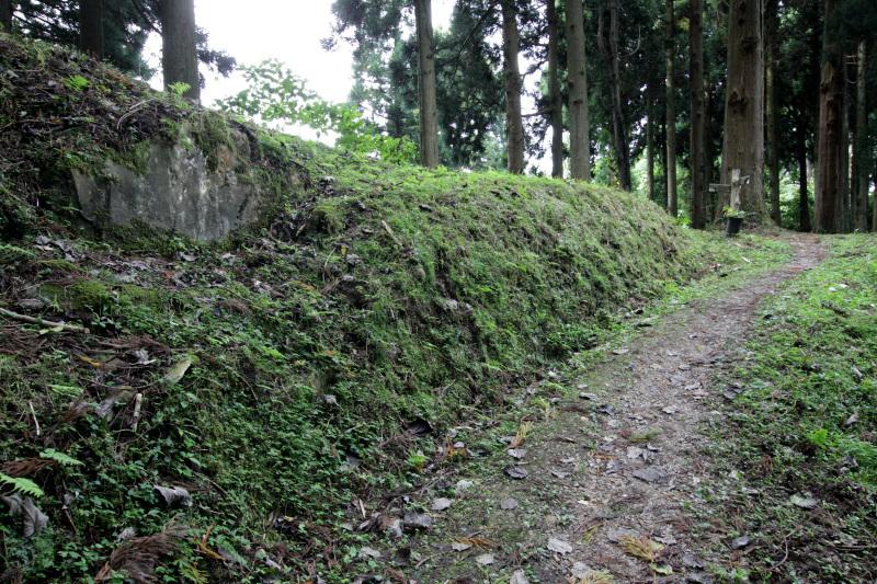 「一ノ丸」からは城下町の跡が一望できる!