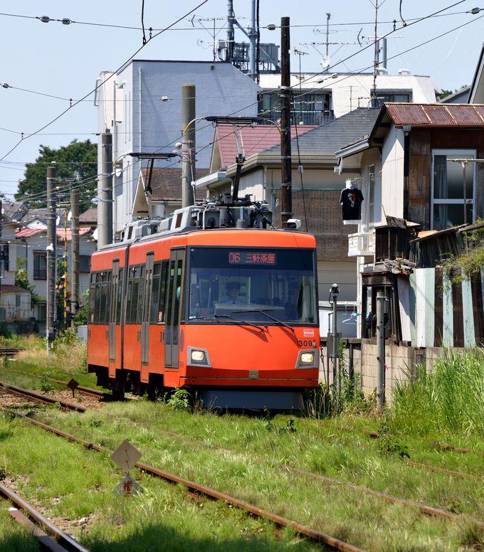 都会の真ん中とはいえ、結構ローカルな雰囲気満載!まずは電車に乗って楽しもう