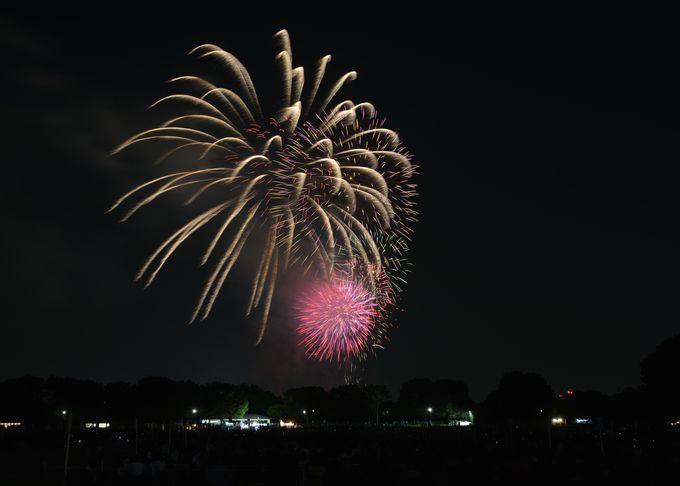 三脚を立てて、花火を撮影する。これが花火を上手に撮るコツの第一歩!