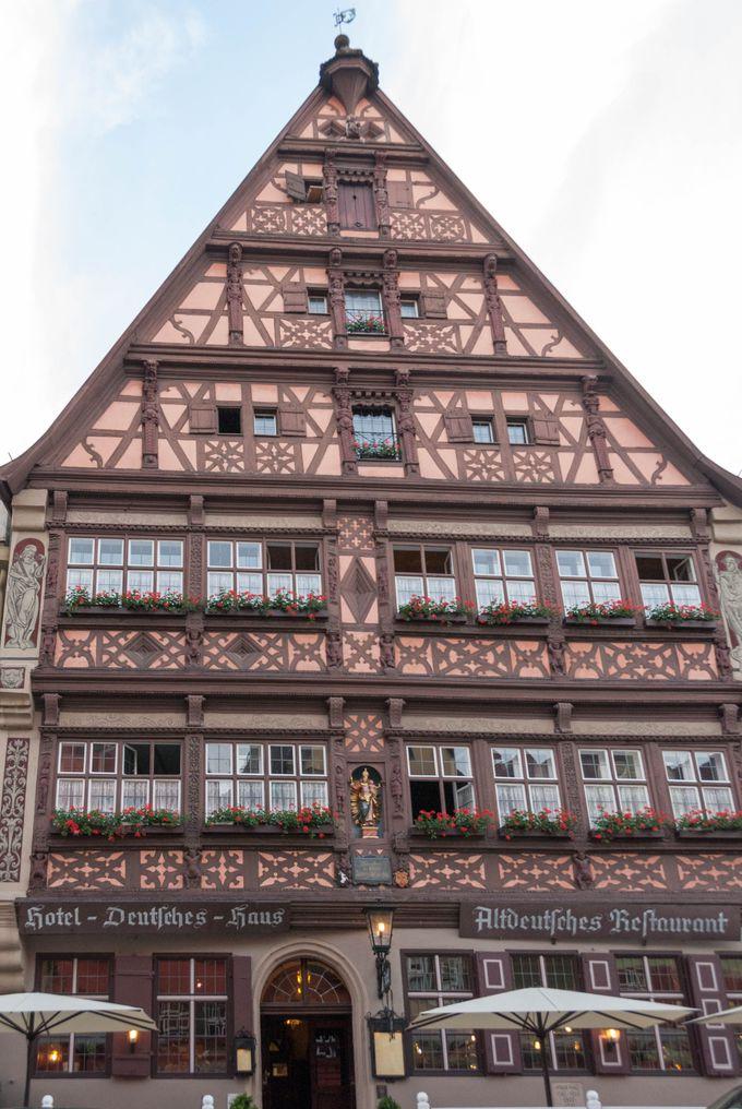 滞在するなら15世紀の建物を今も使用しているホテル、ドイチェスハウスがお勧め
