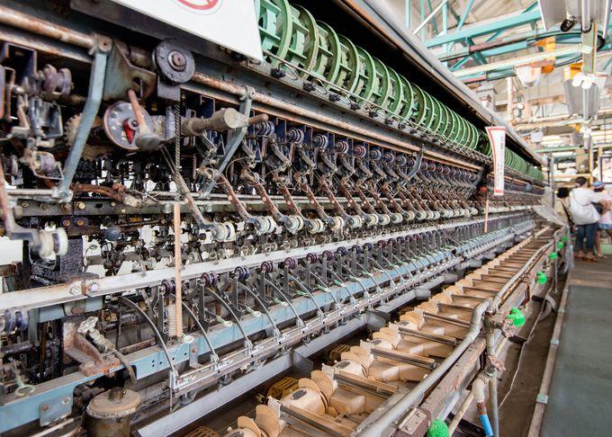 メインの施設 繰糸工場の設備は圧巻。当時の技術の高さに敬意を!