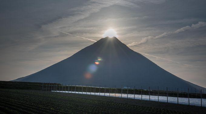 夕方は日本最南端駅付近からダイヤモンド薩摩富士の絶景を撮ろう