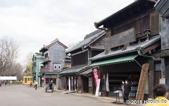 大正期から昭和初期の建築物が展示される東ゾーン。レトロな香りを楽しんでみませんか