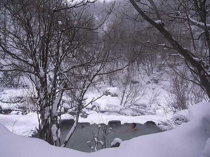 絶景雪見露天風呂!
