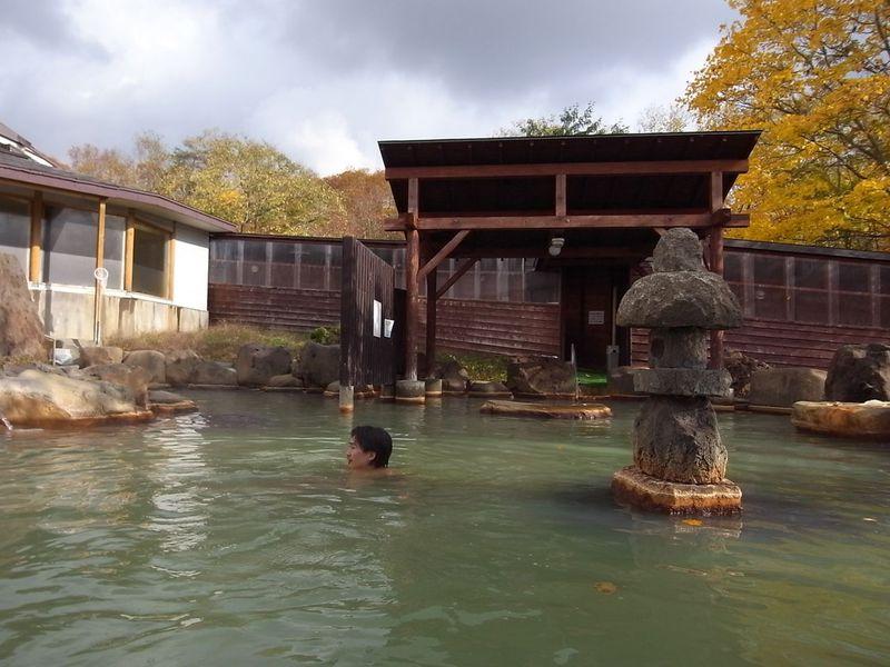適温でじっくり露天風呂を満喫!