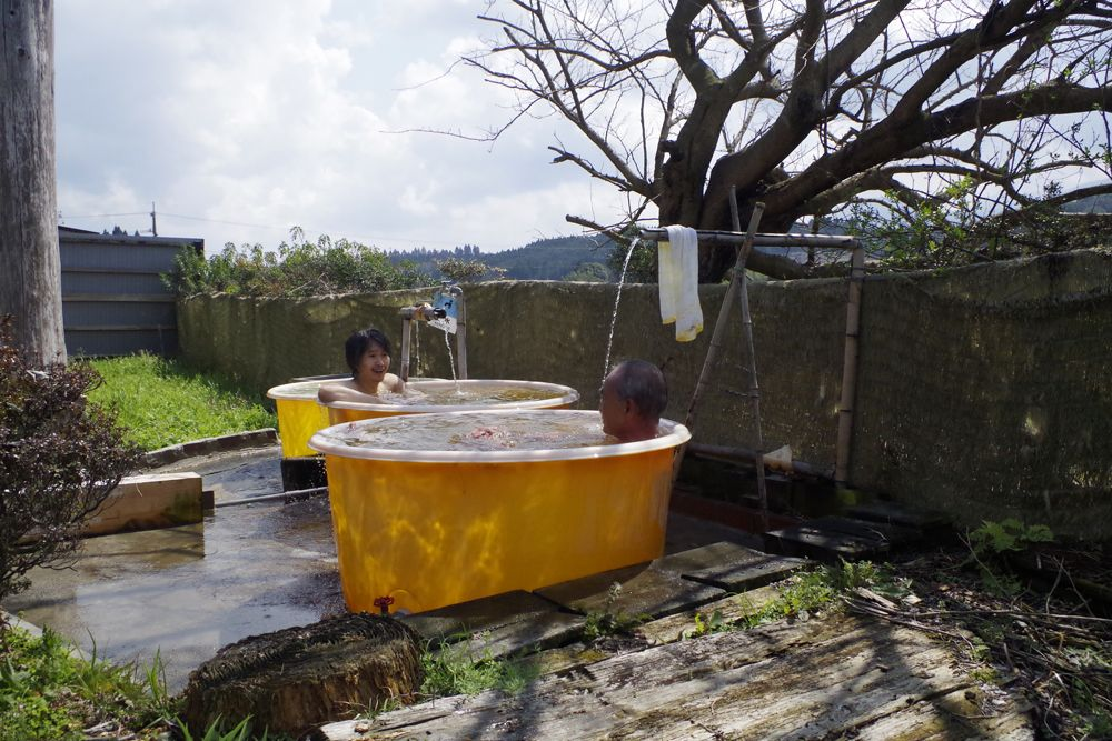珍しい露天風呂