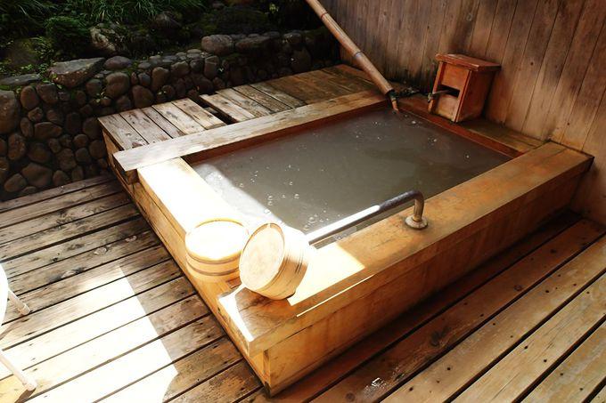 露天風呂付きのお部屋も