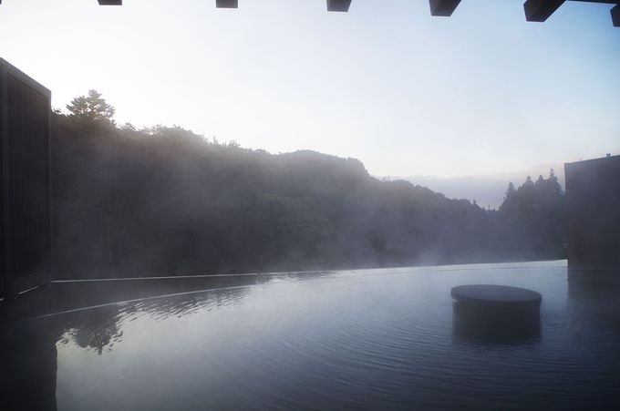 拘りの白濁する源泉かけ流しの温泉