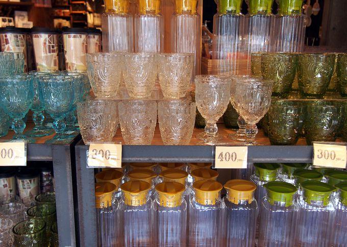 キッチングッズが豊富!かわいいグラスが160円〜