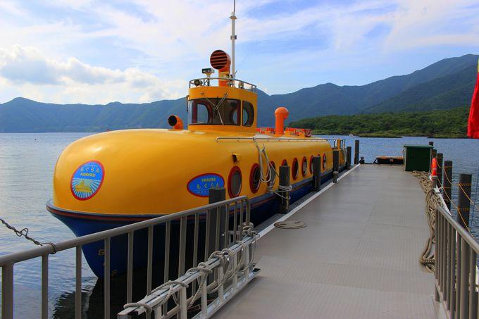 日本有数の透明度を誇る本栖湖で「もぐらん」に乗船!お魚も覗ける♪