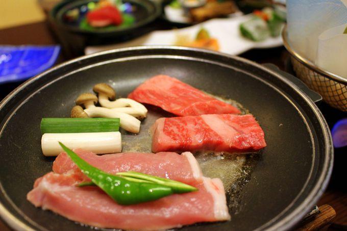 お部屋食または囲炉裏で味わう炉端料理が選べる夕食