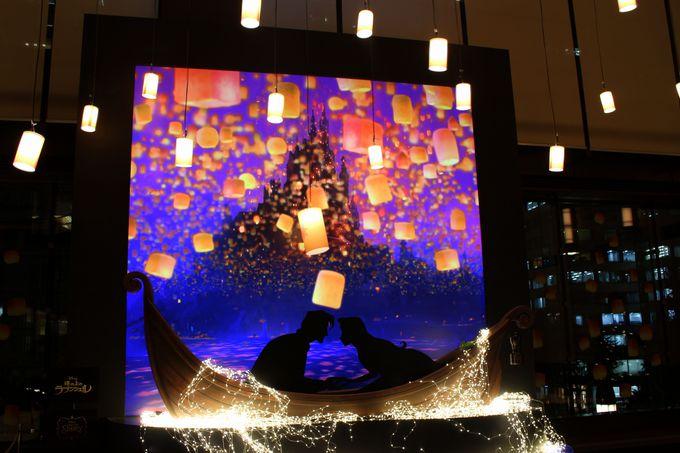 ランタンの光が美しい「塔の上のラプンツェル」をイメージした空間