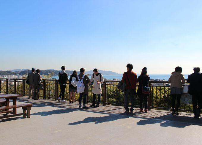 レストランの隣「見晴台」からの景色も堪能