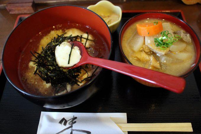 レトロな建物で味わう!絶品「おぼろ豆腐丼」